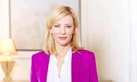 Cate Blanchett in a pink suit