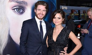 Jenna Coleman at the Game of Thrones premiere in LA with boyfriend Richard Madden