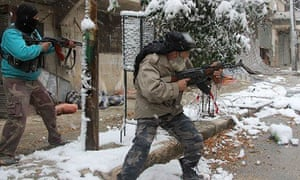 Rebel fighters in Syria