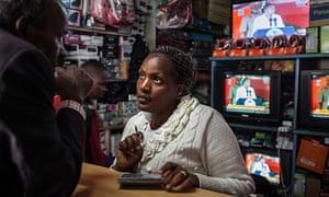 Sally Kayoni at Murenju General Store in Bomet, Kenya