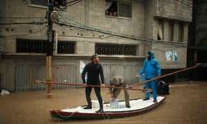 Rescue workers in the Gaza Strip