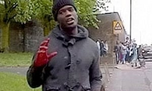 Michael Adebolajo, his hands bloodied