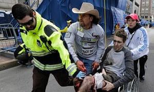 Carlos Arredondo and Jeff Bauman, Boston marathon
