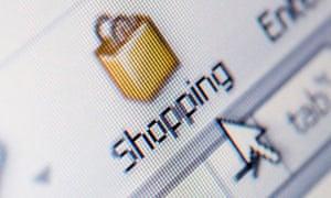 shopping icon computer screen