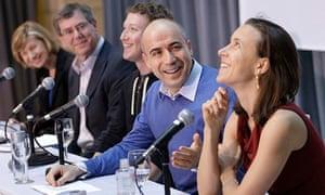 Sergey Brin, Mark Zuckerberg, Anne Wojcicki