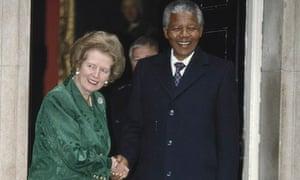 Mandela Visits Thatcher