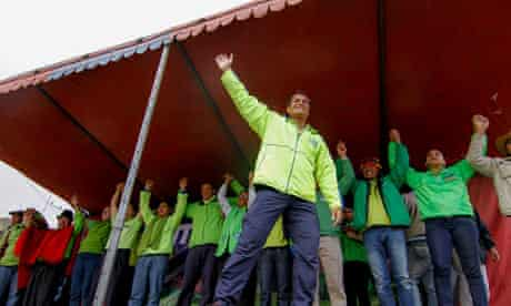 Correa Campaign Trail in Zumbahua