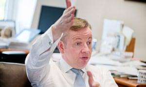 Michael Gove, education secretary
