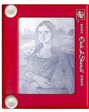 Etch A Sketch artist Jeff Gagliardi recereates the Mona Lisa