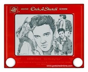 Etch a Sketch Elvis by George Vlosich
