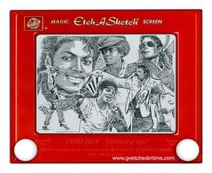 Etch a Sketch Michael Jackson by George Vlosich