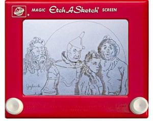 Etch A Sketch Wizard of Oz by artist Jeff Gagliardi