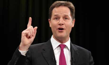 Liberal Democrat leader Nick Clegg