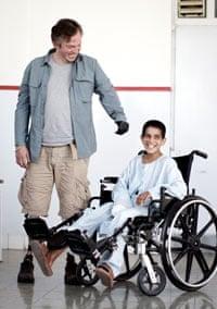 Giles Duley with Afghan boy Sediqullah
