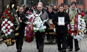 Funeral ceremony of Sergei Magnitsky in Moscow