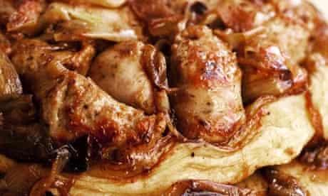 Sausage Tarte Tatin onion nigel slater