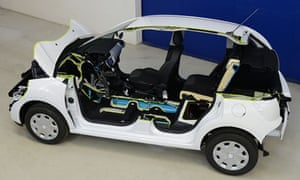 Peugeots Hybrid Air the car of the future that runs on air
