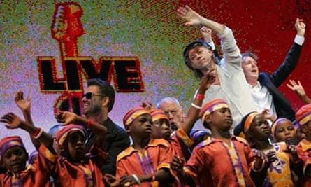 George Michael Bob Geldof Paul McCartney Live 8