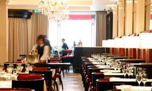 Classic interior of Brasserie Chavot, London