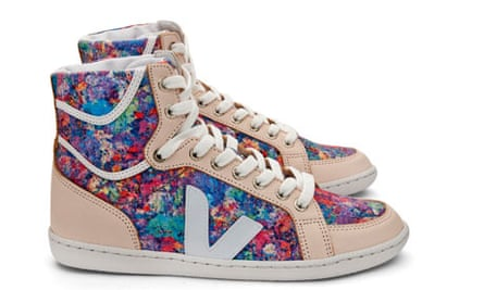 Veja trainers printed with aeral-map design