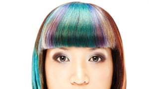 Woman With Multi-coloured Hair