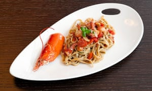 Lobster tagliatelle at Cucina Asellina, London