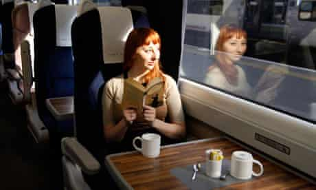 Eva Wiseman on a train reading Bronte