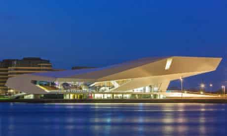The futuristic EYE Film Institute in Amsterdam