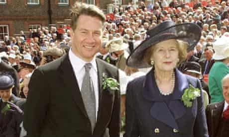 Margaret Thatcher with Michael Portillo