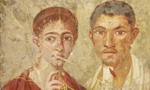 Wall painting of the baker Terentius Neo and his wife, Pompeii