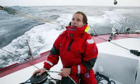 Conrad Humphreys manning a boat out at sea