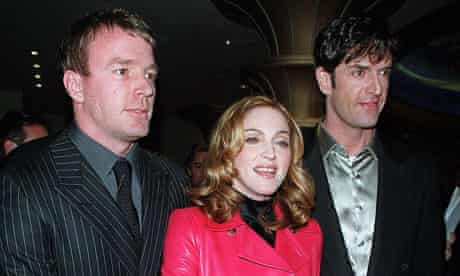 Rupert Everett with Madonna and Guy Ritchie