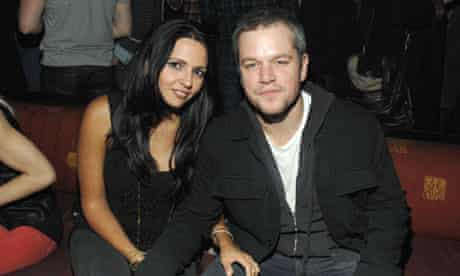 Matt Damon with his wife, Luciana
