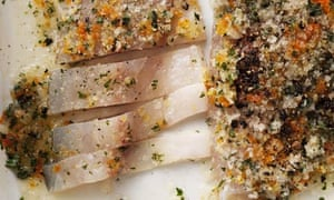 Nigel Slater's cured sea bass with mint and citrus salt