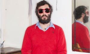 Poet Ryan Van Winkle wearing sunglasses
