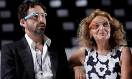 Diane Von Furstenberg, Sergey Brin, Google Glass
