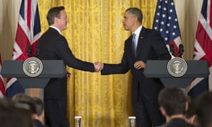 US President Barack Obama(R) and British