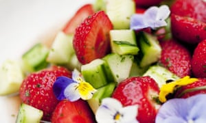 strawberry and strawberry and cucumber fruit salad