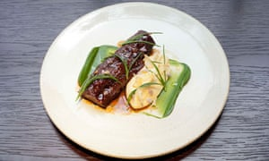 lamb's neck with garlic potatoes, the social eating house