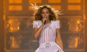 Beyonce on stage in London