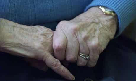 elderly hands woman