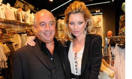 Sir Philip Green pictured with Kate Moss