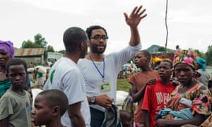 Chiwetel Ejiofor at Oxfam DRC camp