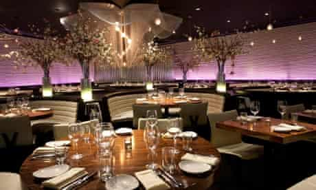STK's overdesigned interior with chandeliers