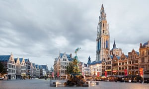 Grote Markt and Cathedral of Our Lady, Antwerp