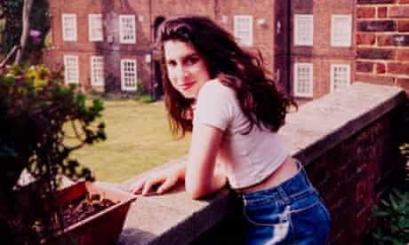 Amy outside her Gran's flat