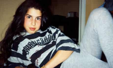 Amy in stripy sweatshirt