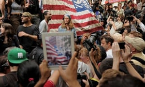 The Occupy Wall Street protest in Zuccotti Park