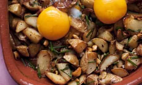 Nigel Slater's new potatoes with hazelnuts recipe
