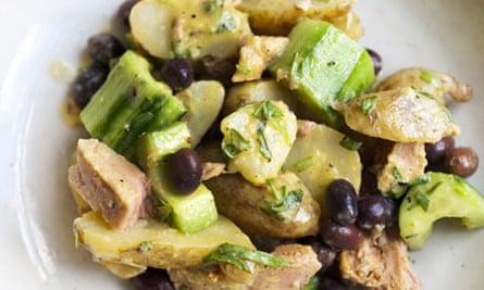 Nigel Slater's new potato, tuna and cucumber salad